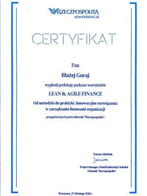 Rzeczpospolita warsztat lean and agile finance